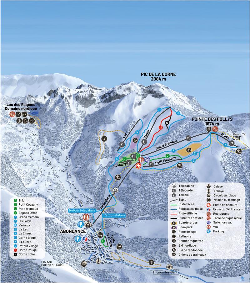 Guide de station de ski de abondance carte h bergement vacances de ski abondance - Office de tourisme abondance ...