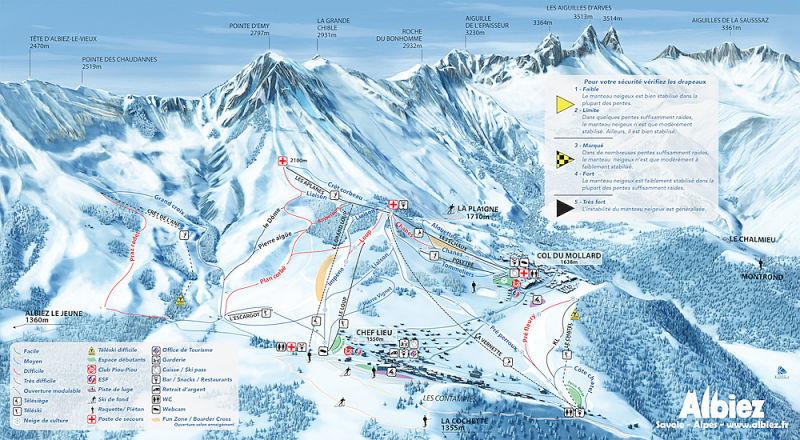 Guide de station de ski de albiez montrond carte - Office tourisme albiez montrond 73300 ...