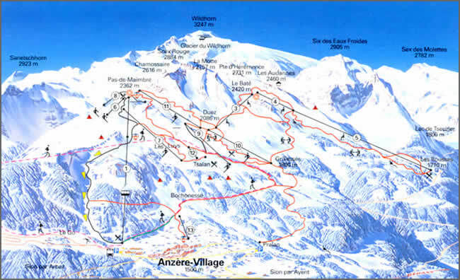 Guide de station de ski de anz 232 re carte amp h 233 bergement vacances de