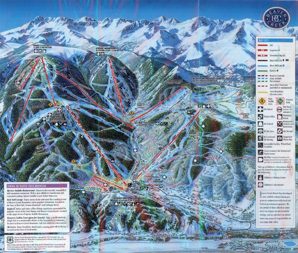 Beaver Creek Piste / Trail Map