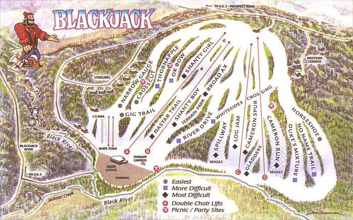 Blackjack SA Piste / Trail Map
