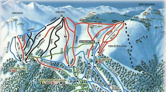 Chapelco Piste / Trail Map