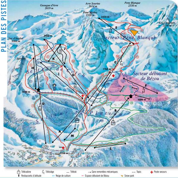 Guide de station de ski de gourette carte h bergement vacances de ski gourette - Gourette office de tourisme ...