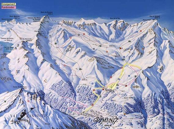 Grimentz Piste / Trail Map