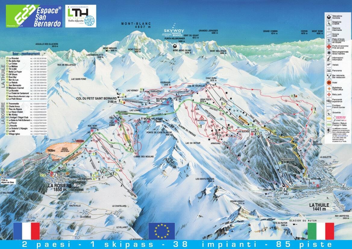 Guide De Station De Ski De La Thuile Carte Amp H 233 Bergement