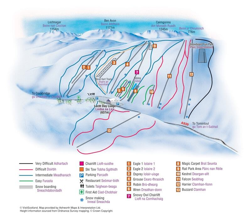 The Lecht Piste / Trail Map
