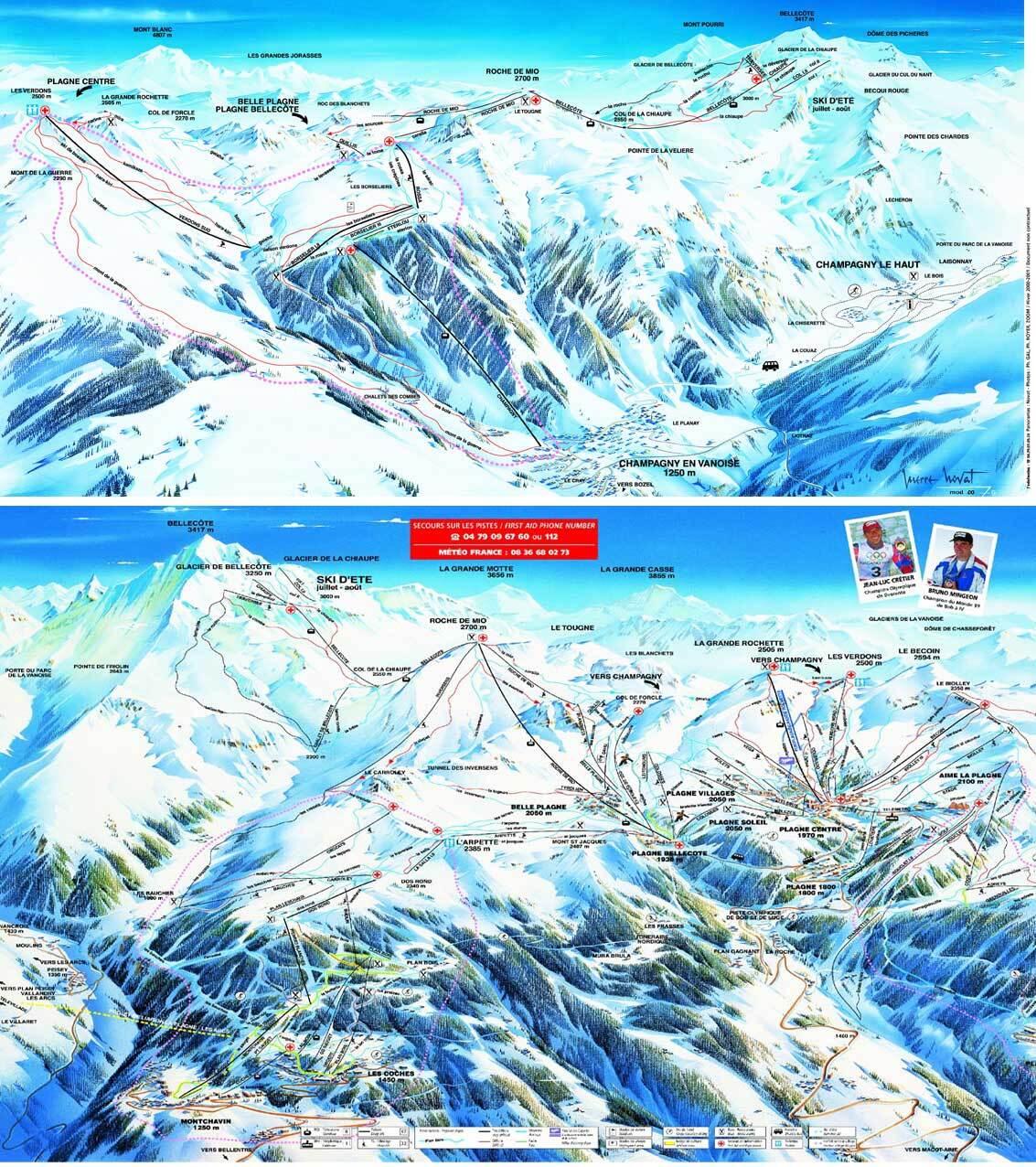 Guide de station de ski de les coches carte h bergement - Office de tourisme montchavin les coches ...