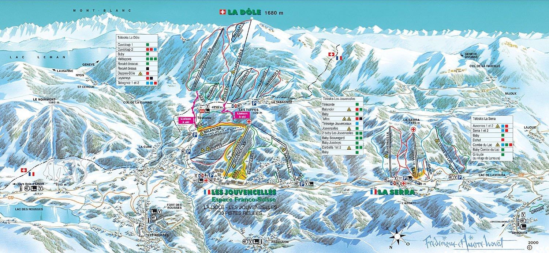 Guide de station de ski de les rousses carte h bergement vacances de ski les rousses - Office du tourisme les rousses ...