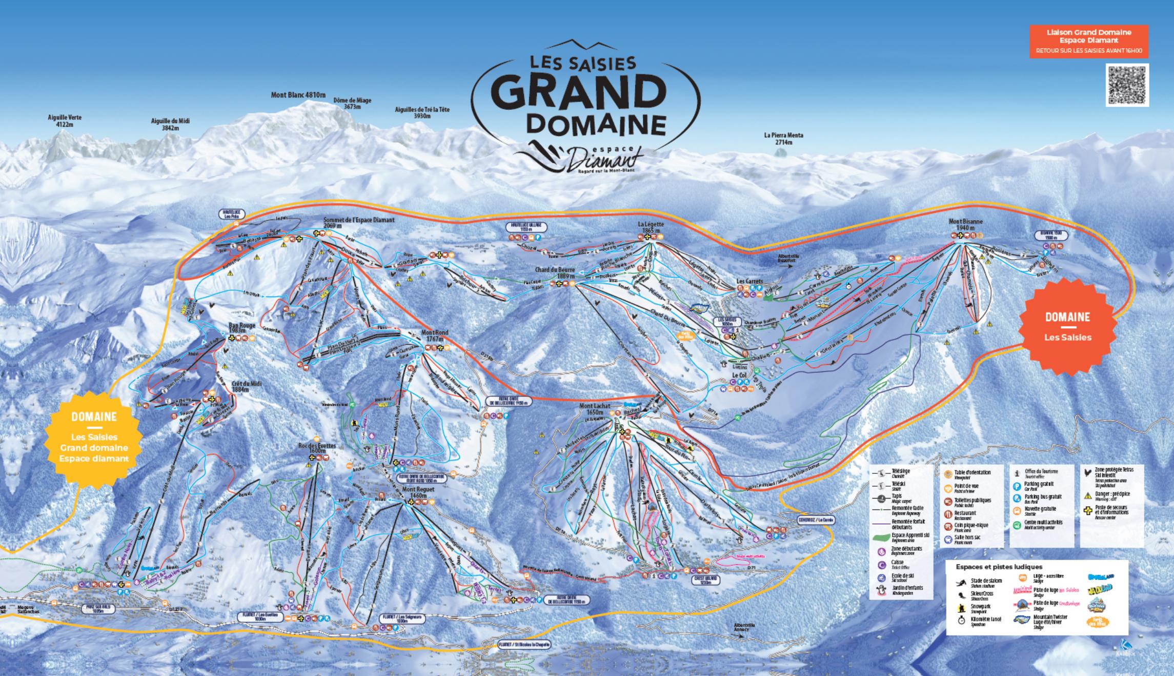 Guide de station de ski de les saisies carte h bergement vacances de ski les saisies - Office de tourisme les saisies ...