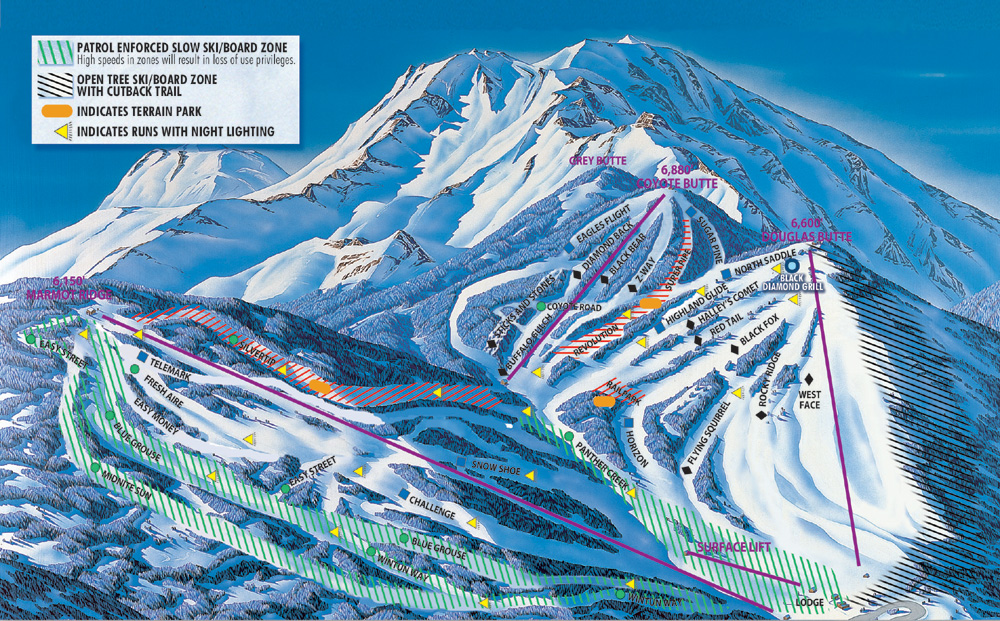 Mt Shasta Piste / Trail Map
