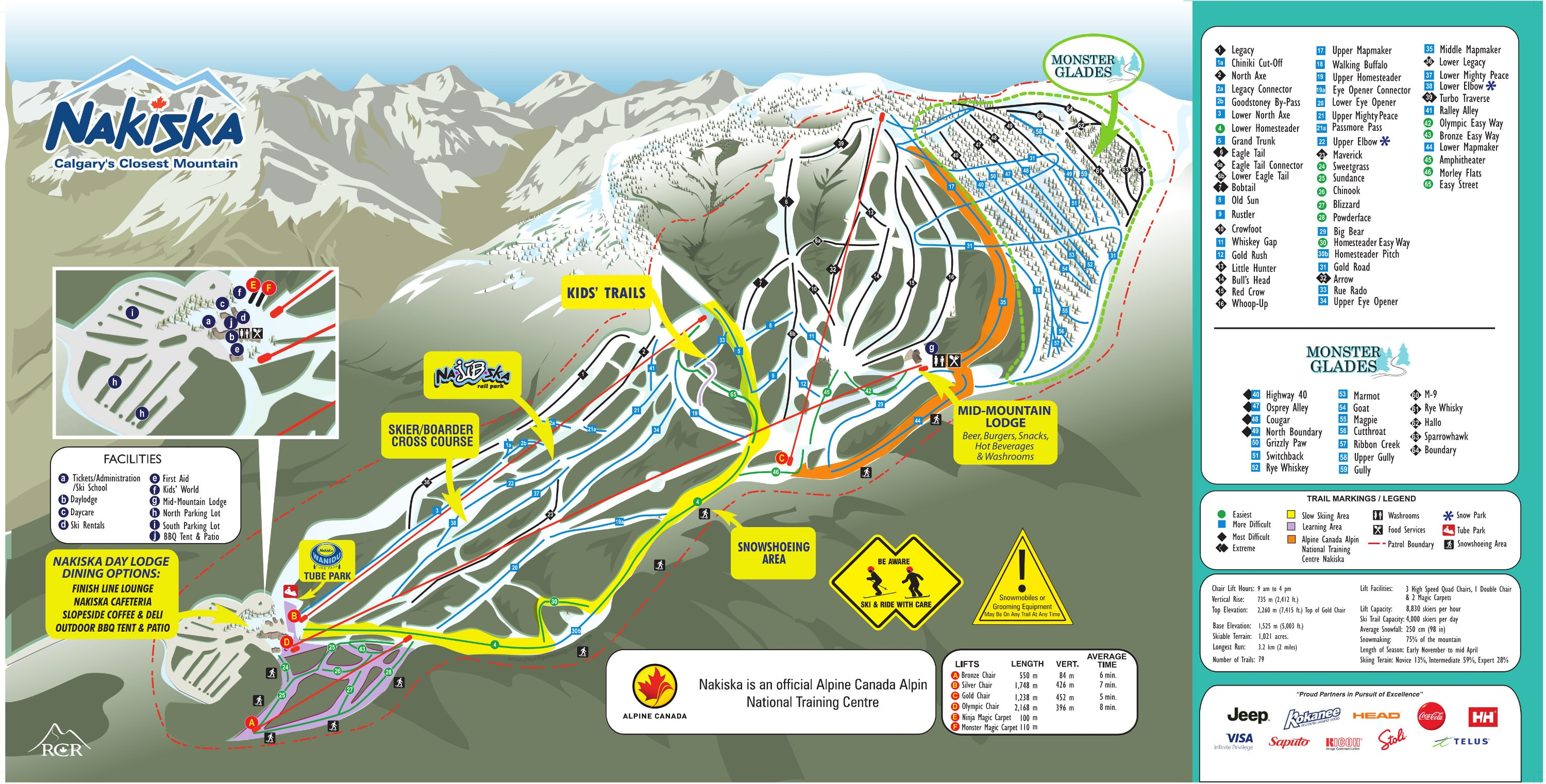 Nakiska Piste / Trail Map