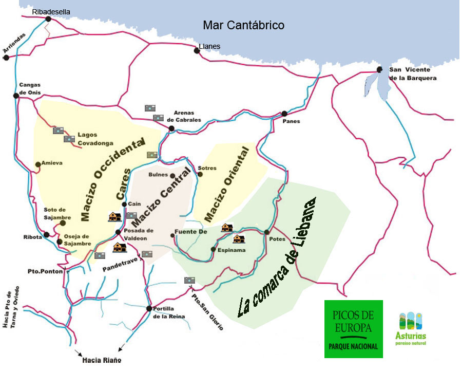 Picos De Europa Piste / Trail Map