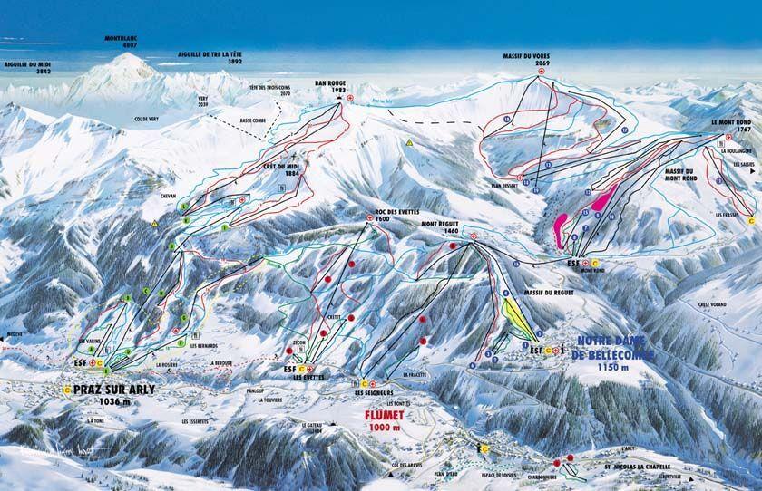 Residence Mont Blanc Carroz D Araches Plan De La Ville