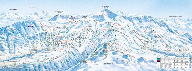 Plan des pistes et sentiers de randonn es de saint - Office du tourisme st francois longchamp ...
