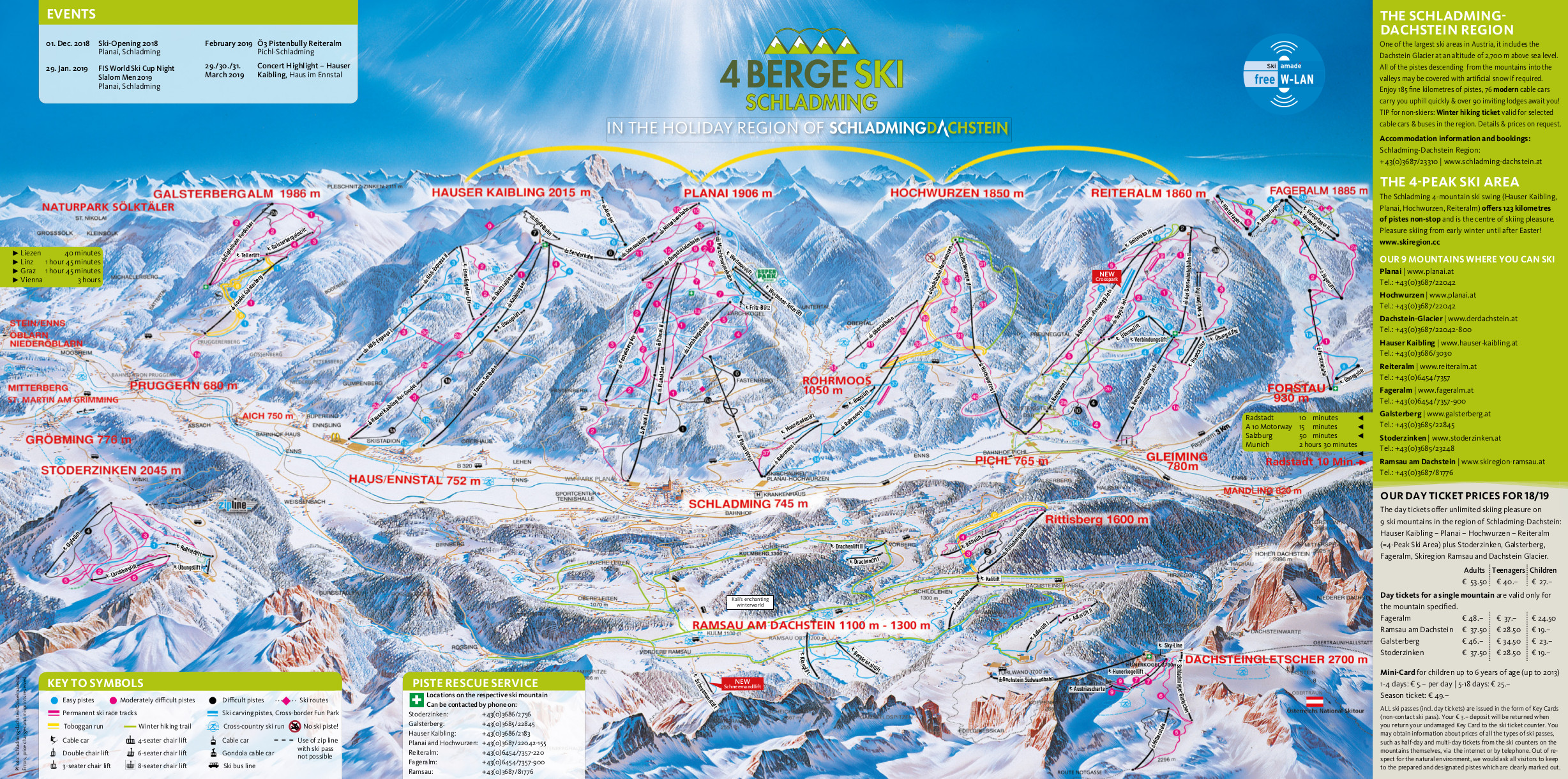 Schladming Piste / Trail Map