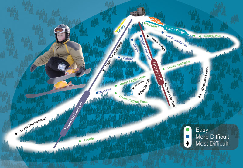 Ski Big Bear Piste / Trail Map