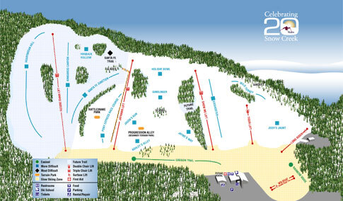 Snow Creek Piste / Trail Map