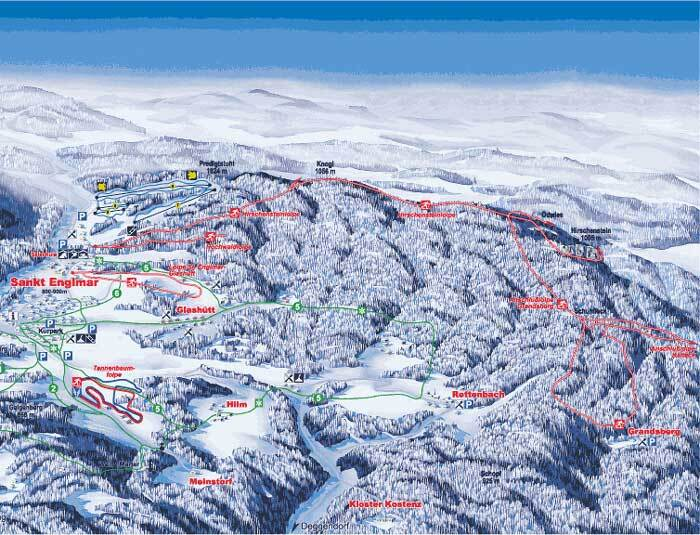 St. Englmar Piste / Trail Map