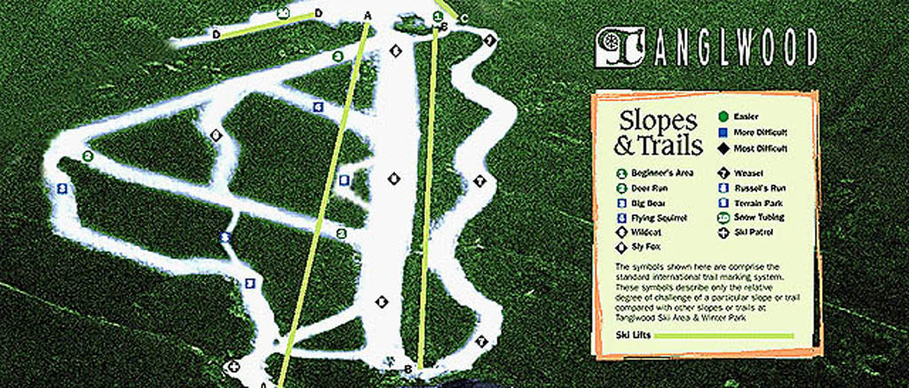 Tanglwood Piste / Trail Map