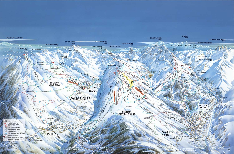Guide de station de ski de valmeinier carte h bergement vacances de ski valmeinier - Office du tourisme valmeinier 1800 ...