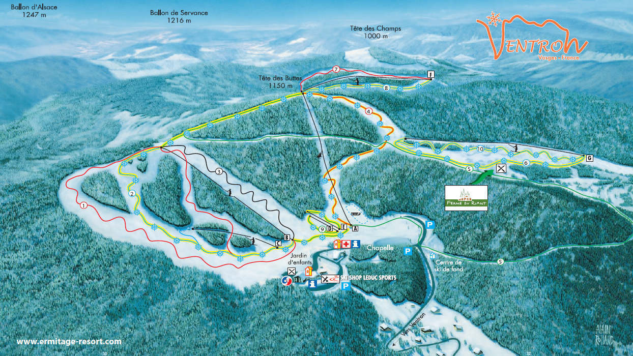 Guide de station de ski de ventron carte h bergement vacances de ski ventron - Office de tourisme ventron ...