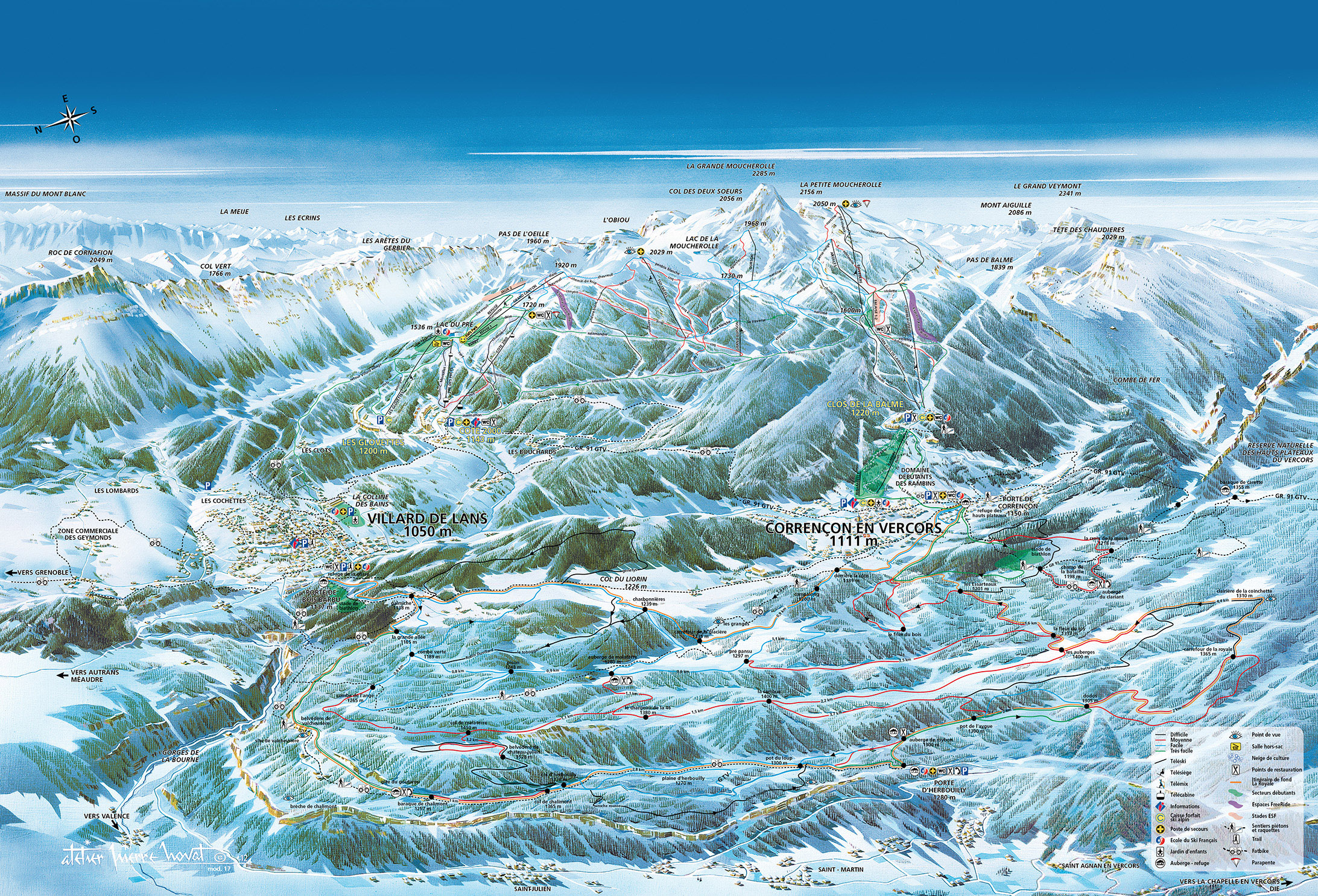 Guide de station de ski de villard de lans carte - Office du tourisme de villard de lans ...