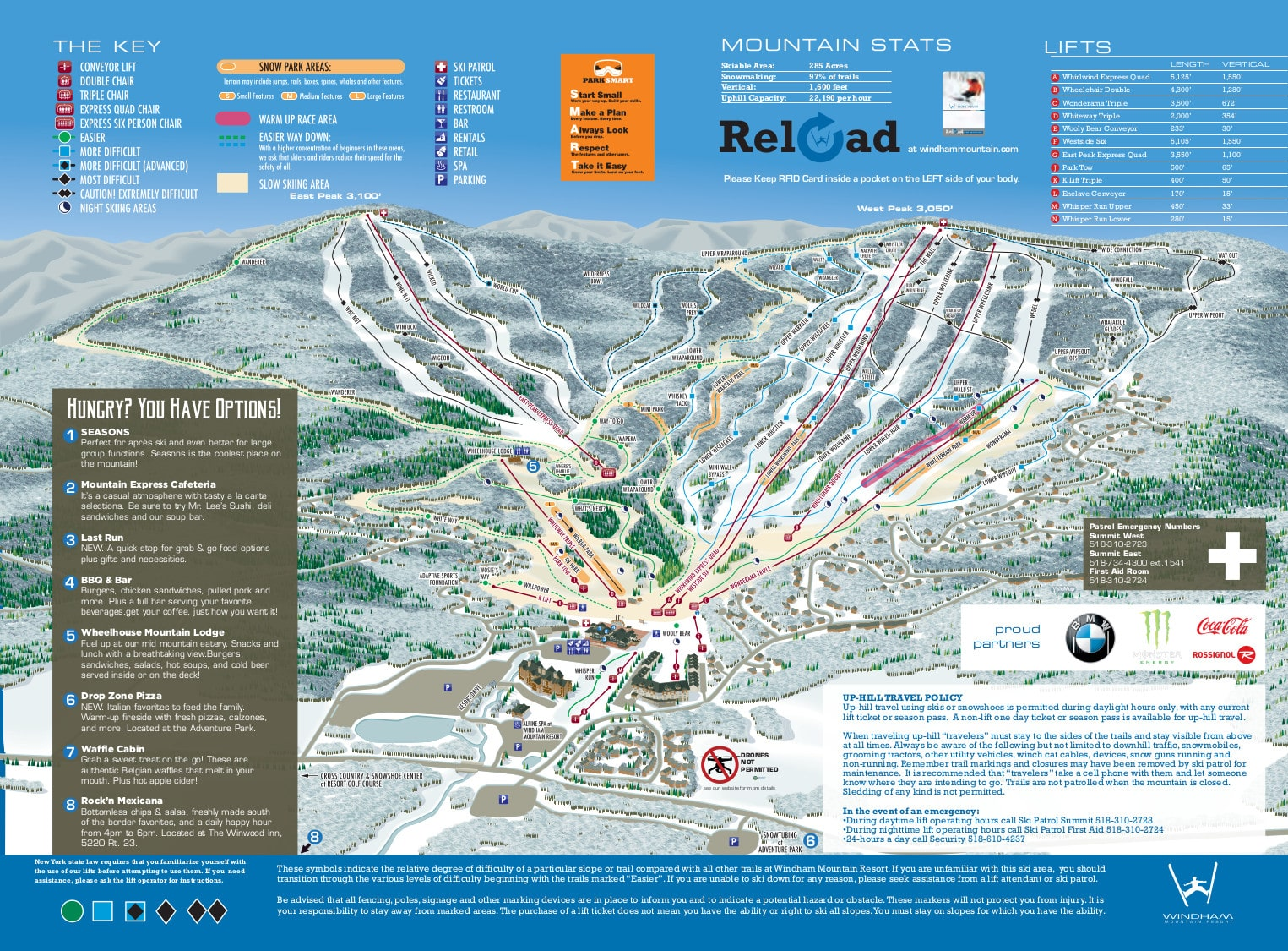 Windham Mountain Piste / Trail Map
