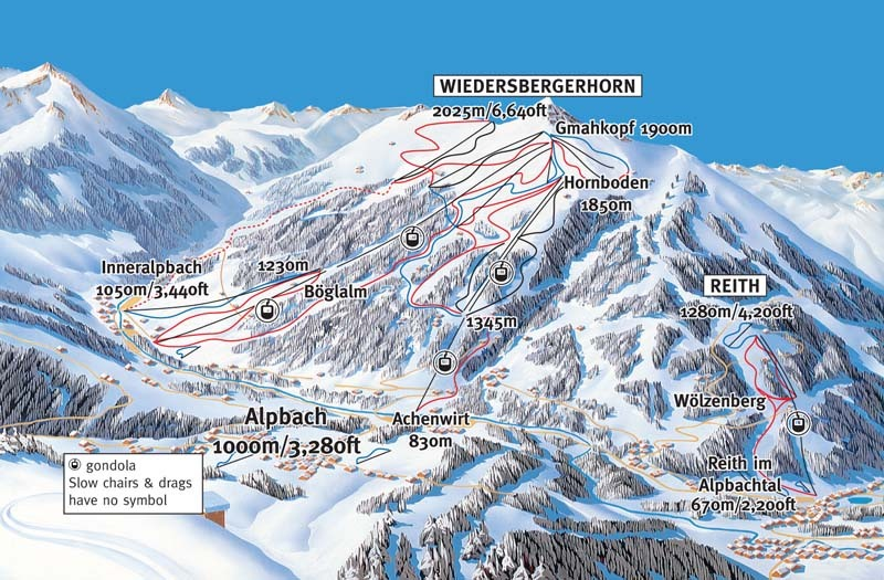 Alpbachtal Piste / Trail Map