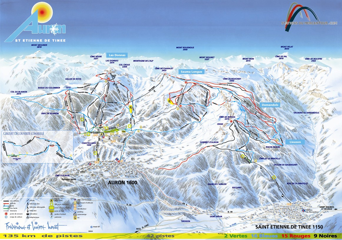 Auron Piste / Trail Map