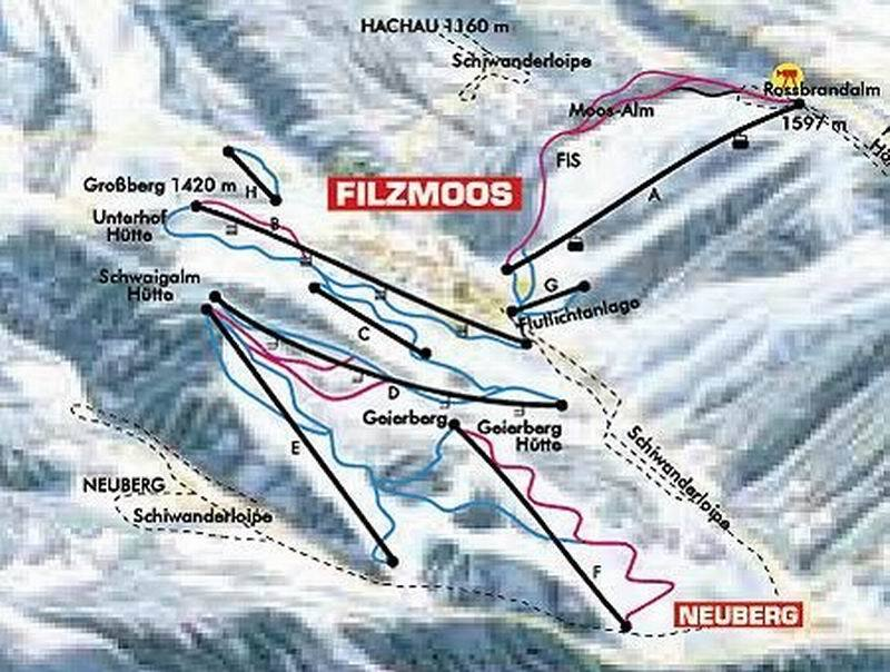 Filzmoos Piste / Trail Map