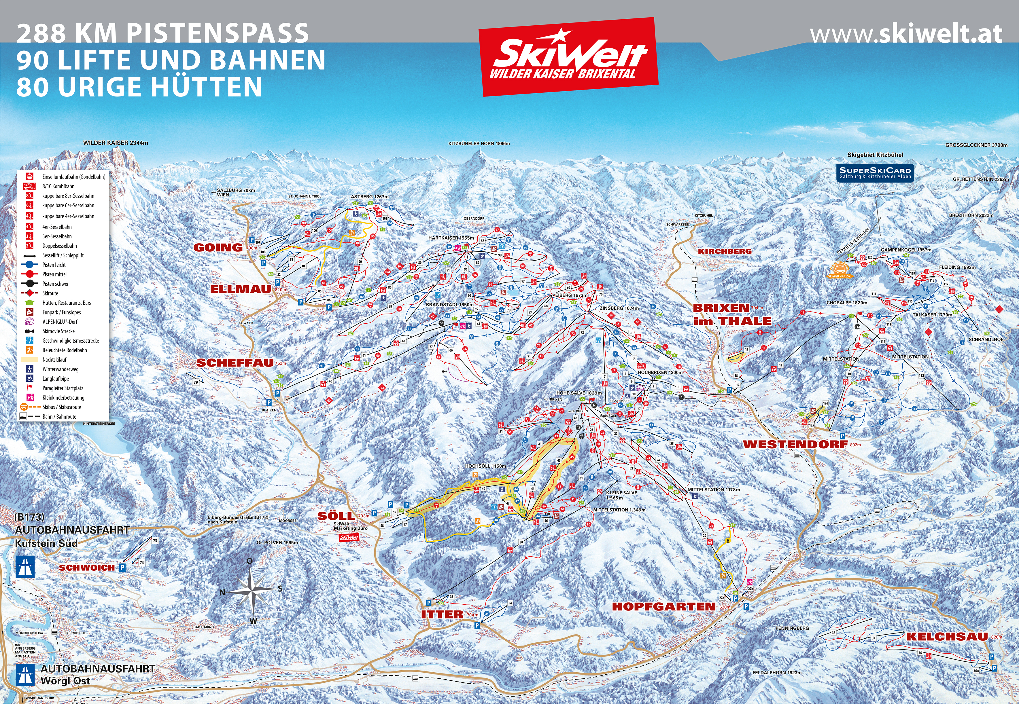 Hopfgarten Piste / Trail Map