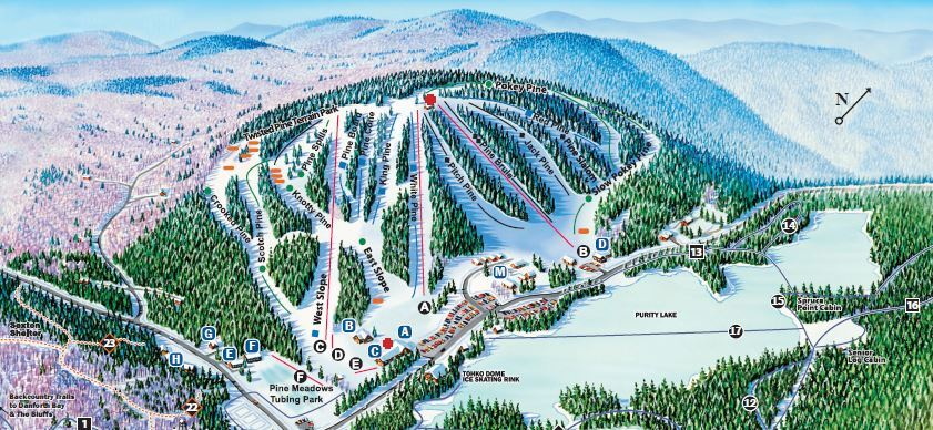 King Pine Piste / Trail Map