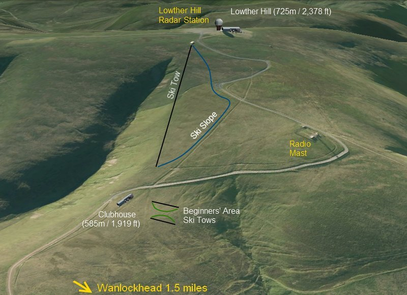 Lowther Hills Piste / Trail Map