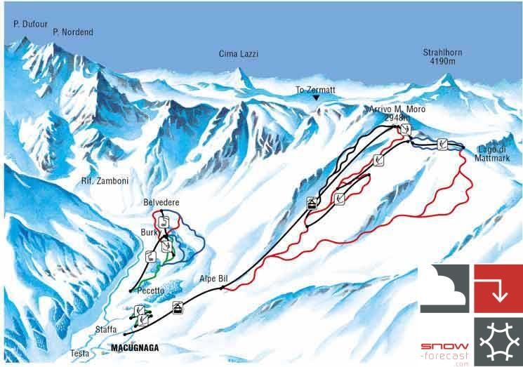 Macugnaga Piste / Trail Map