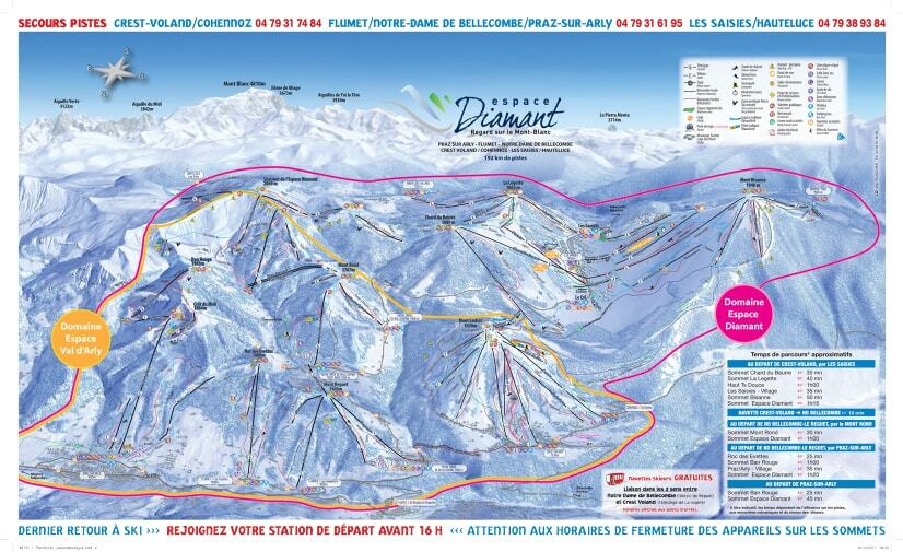 Guide de station de ski de notre dame de bellecombe carte - Notre dame de bellecombe office du tourisme ...