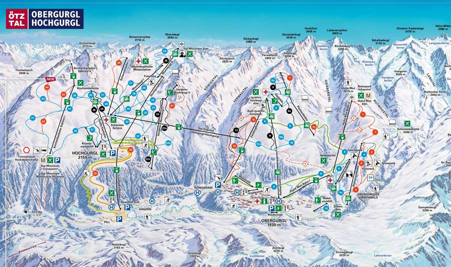 Obergurgl Piste / Trail Map