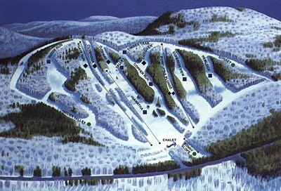 Porcupine Mountain Piste / Trail Map