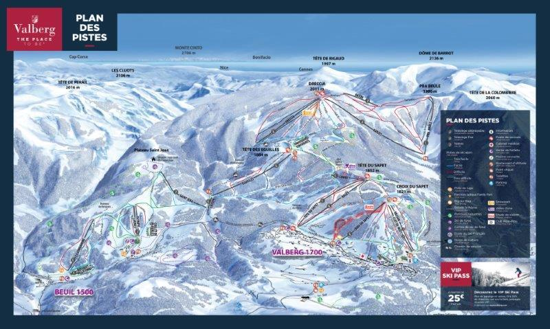 Valberg Piste / Trail Map